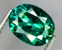3.40 Crt Natural Green Topaz Beautifulest Faceted Gemstone.( AG 83)