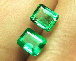 Price Reduced! High-End 1.25 tcw Emerald Pair