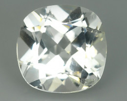 7.05 CTS DELUXE REAL RUTILE NATURAL TOPAZ CUSHION UNHEATED