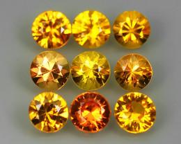 1.85 Cts Natural Intense Beautiful Yellow Sapphire Round Shape Madagascar