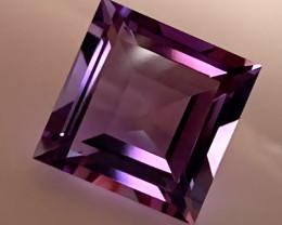 Square cut Pink Purple Amethyst 4.32cts VVS gem