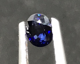 NR!! GIL Certified 0.53 Carats Natural Royal Blue Sapphire UNHEAT