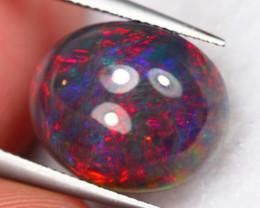 2.49Ct Electric Neon Flash Ethiopian Welo Black Smoked Opal ~ B09/8
