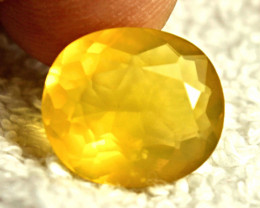 8.01 Carat Yellow Mexican Fire Opal - Gorgeous