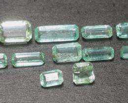 No reserve 9.30 ct Light  color Emerald Gemstone parcel