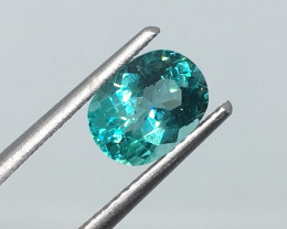 1.26 Carat VS Apatite Neon Paraiba Color Untreated Gorgeous Color !
