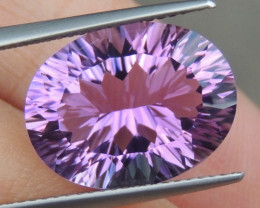 8.52cts, Amethyst,  Top Cut, Clean, Untreated, Concave