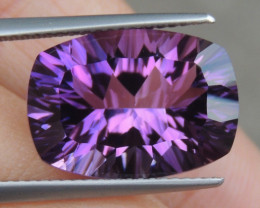9.12cts, Amethyst,  Top Cut, Clean, Untreated, Concave
