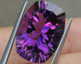11.32cts, Amethyst,  Top Cut, Clean, Untreated, Concave