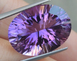 14.47cts, Amethyst,  Top Cut, Clean, Untreated, Concave