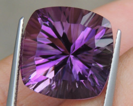 17.07cts, Amethyst,  Top Cut, Clean, Untreated, Concave