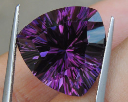 17.61cts, Amethyst,  Top Cut, Clean, Untreated, Concave