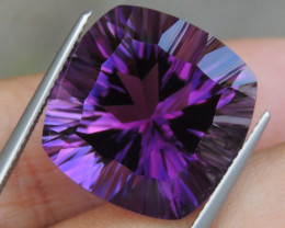19.39cts, Amethyst,  Top Cut, Clean, Untreated, Concave