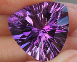 22.28cts, Amethyst,  Top Cut, Clean, Untreated, Concave