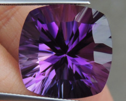 29.02ts, Amethyst,  Top Cut, Clean, Untreated, Concave