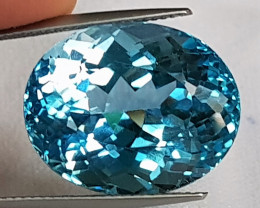 33.34cts, Blue Topaz,   Clean,