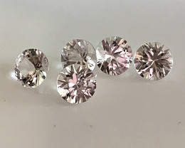 5 PIECE SAPPHIRE PARCEL - JEWELLERY GRADE GEMS 3.70MM EACH