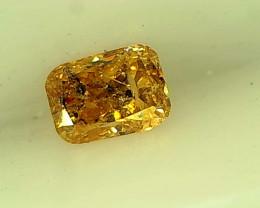 0.14ct Fancy brownish Orange Diamond , 100% Natural Untreated