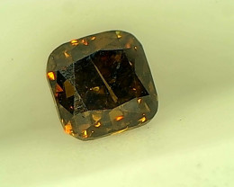 0.27ct Fancy Dark  orange green Brown  Diamond , 100% Natural Untreated