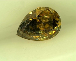 0.22ct Fancy Deep Brown Green  Diamond , 100% Natural Untreated