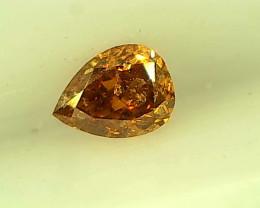 0.10ct Fancy Intense brownish Orange  Diamond , 100% Natural Untreated