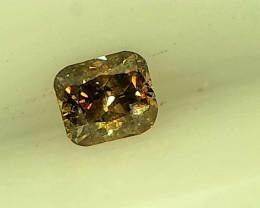 0.09ct grayish Brown Diamond , 100% Natural Untreated