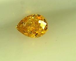 0.10ct Fancy Vivid Yellow  Diamond , 100% Natural Untreated