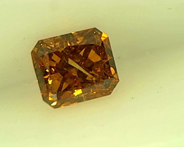 0.19ct Fancy Vivid brownish Orange Diamond , 100% Natural Untreated