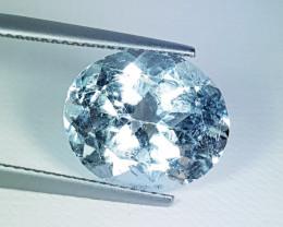 "6.72ct "" Collector's Gem"" Beautiful Oval Cut Natural Aquamarine"