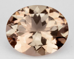 3.09 Cts Nice Peach pink Untreated Natural Morganite Oval