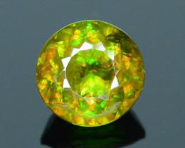 Rare AAA Fire 1.54 ct Chrome Green Sphene Sku-18