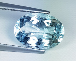 "6.03ct "" Top Grade Gem"" Amazing Oval Cut Natural Aquamarine"