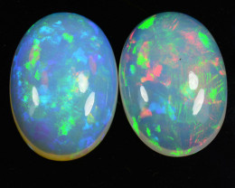 ~AAA+ QUALITY~ 22.73 Cts Natural Multi-Color Play Opal Cabochon Ethiopia
