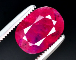 Untreated 2.60 Ct Gorgeous Color Natural Ruby From Afghanistan. ARA