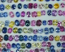 186.00Cts Amazing Natural Fancy Sapphire Parcel Srilanka