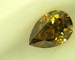 0.21ct  Fancy Deep Brown Green Diamond , 100% Natural Untreated