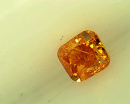 0.10ct Fancy Vivid Orange   Diamond , 100% Natural Untreated
