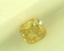 0.16ct Fancy yellowish Green  Diamond , 100% Natural Untreated