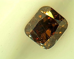 0.25ct Fancy Dark orangish Brown  Diamond , 100% Natural Untreated