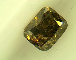 0.23ct Fancy Deep brownish Green  Diamond , 100% Natural Untreated