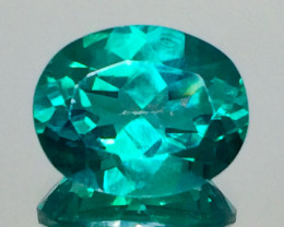 3.34 Crt Natural Green Topaz Beautifulest Faceted Gemstone.( AG 84)