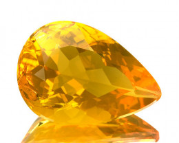 3.41Ct Untreated Natural Mexican Fire Opal Pear