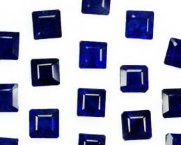 29.88Cts Vivid Blue Natural Blue Sapphire(Composite) Square Parcel