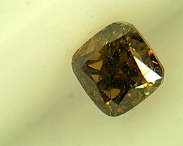 0.22ct Fancy Deep brownish  Green Diamond , 100% Natural Untreated