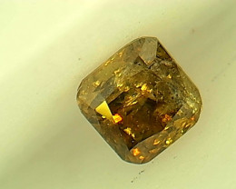 0.20ct  Fancy Deep orangish brownish Green Diamond, 100% Natural Untreated