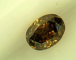 0.19ctFancy Dark greenish Brown  Diamond , 100% Natural Untreated