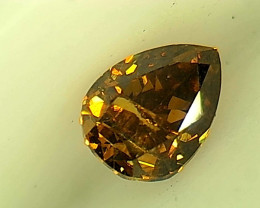 0.24ct Fancy Deep orangish brownish Green  Diamond , 100% Natural Untreated