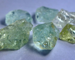102.15 CT Natural & Unheated Green Beryl Aquamarine Rough Lot