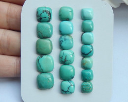 35cts 18 PCS Turquoise Gemstone Cabochon 10x4mm,7x4mm(H1928)