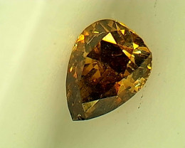 0.17ct Fancy Deep Brown Yellow  Diamond , 100% Natural Untreated